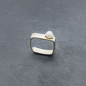 Pearl Medium Stacking Rings