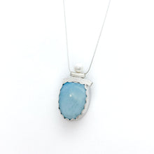 Load image into Gallery viewer, Balance Pearl and Larimar Necklace