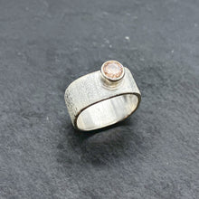 Load image into Gallery viewer, Pink CZ Wide Stacking Ring
