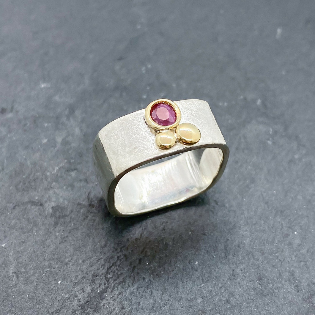 Ruby Bezel Ring Size 7.5-8