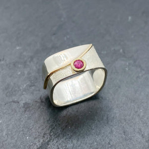 Ruby Bezel Ring Size 8