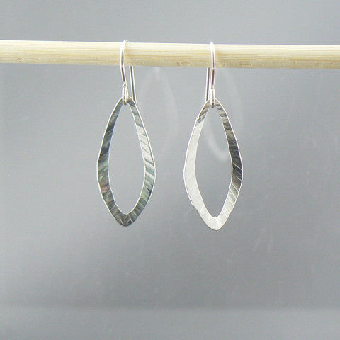 Hammered Open Leaf Earrings