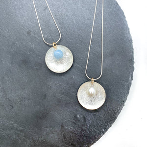 Scribbled Disc Necklace