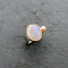 Load image into Gallery viewer, Boulder Opal Ring Size 6.5
