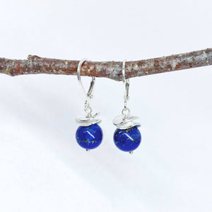 Acorn Lapis Earrings