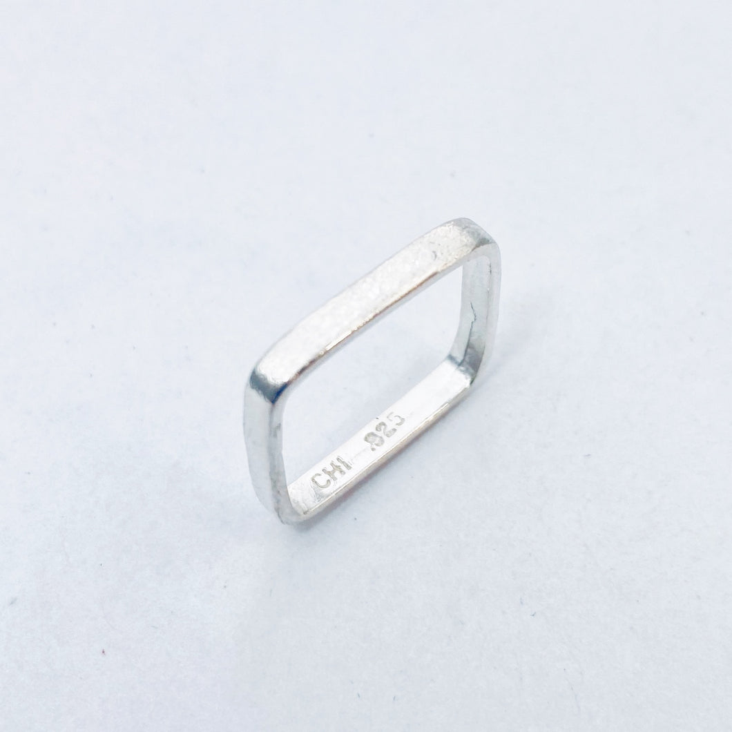 Skinny Scribble Stacking Ring