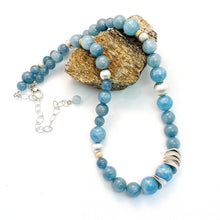 Load image into Gallery viewer, String of Calming Aquamarine Necklace