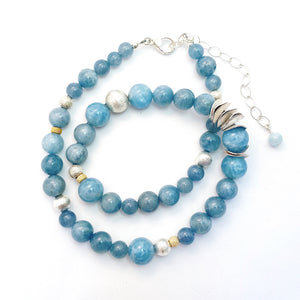 String of Calming Aquamarine Necklace