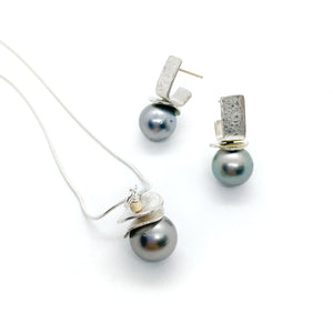 Tahitian Black Pearl Set