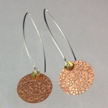 Load image into Gallery viewer, Textured Copper Earrings