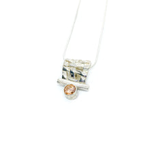 Load image into Gallery viewer, Pink CZ Woven Slider Necklace
