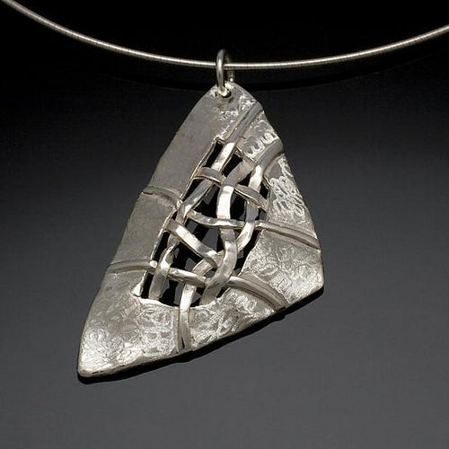 Woven Soft Triangle Necklace