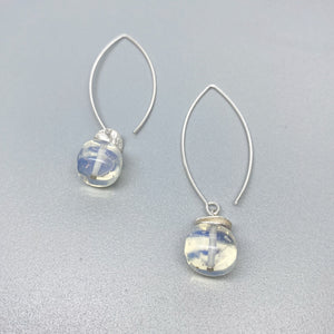 Acorn Opalite Long Dangle Earrings