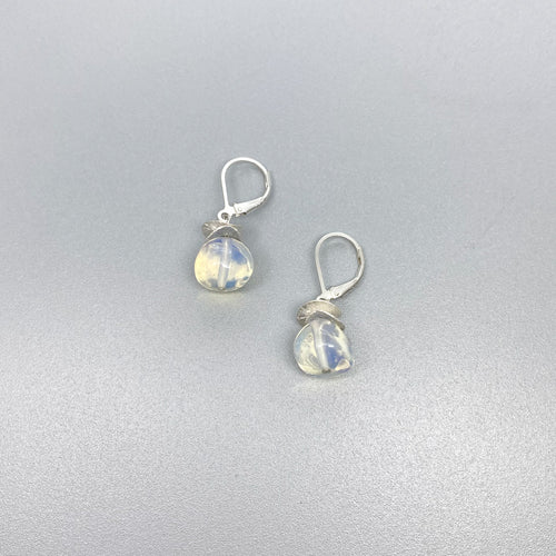 Opalite Acorn Lever back  Earrings