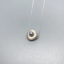 Load image into Gallery viewer, Brushed Silver and Pearl Dream Pillow slider Necklaces