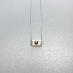 Brushed Silver and Pearl Dream Pillow slider Necklaces