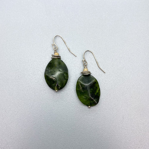 BC Jade Lever back Earrings