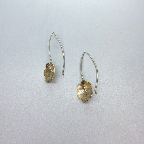 Vermeil Scribbled Flower Earrings