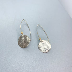 Hammered Petal Earrings