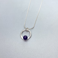 Load image into Gallery viewer, Scribbled Amethyst Orbit Necklace