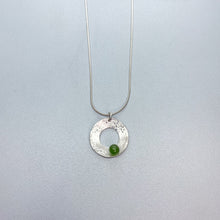 Load image into Gallery viewer, Scribbled BC Jade Orbit Necklace