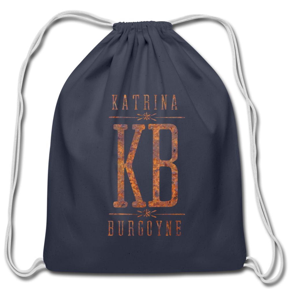 KB Cotton Drawstring Bag - navy