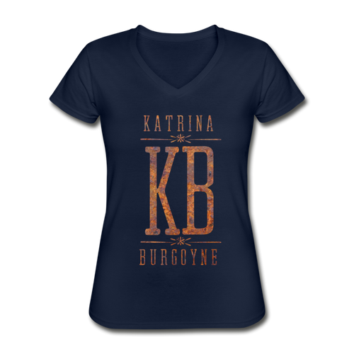 Women's KB V-Neck T-Shirt - navy