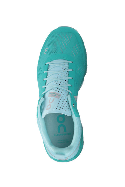 Support, fast, breathable, swiss engineering, running, ultra light, Women's ON Cloudsurfer - Atlantis Haze