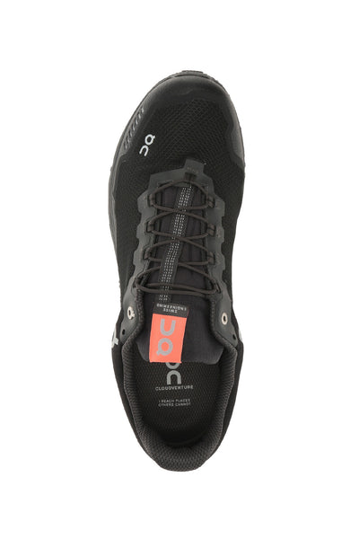water proof running shoes, trail, low, comfortable, wind proof, Men's ON Cloudventure - Black Dark