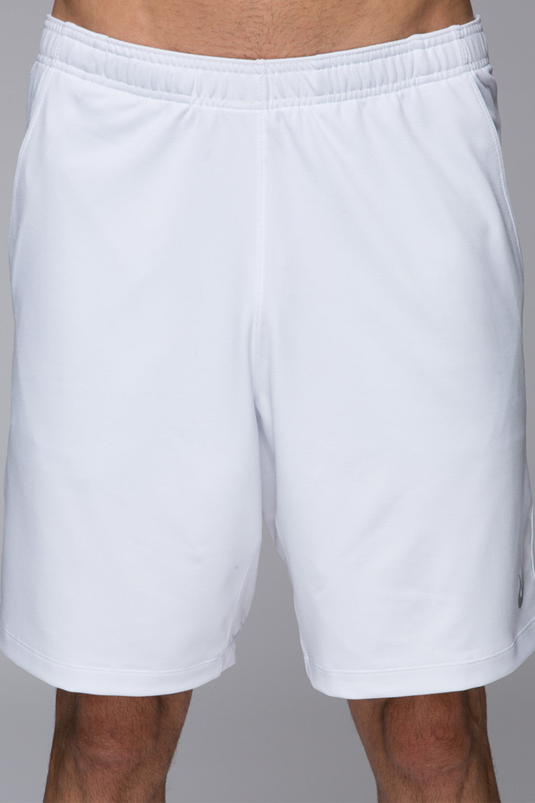 Men's performance shorts, gym shorts, breathable, 8inch shorts, blue, light weight, sweat wicking, Legacy Knit short - Bright White