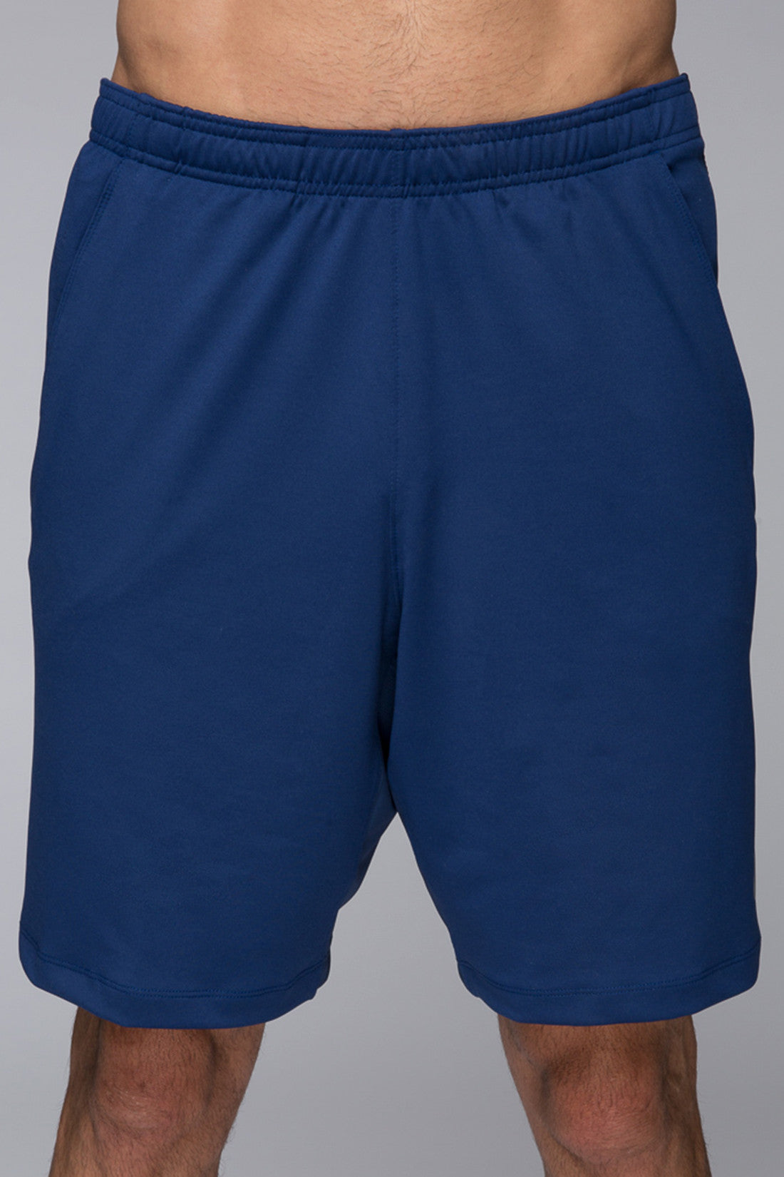 Men's performance shorts, gym shorts, breathable, 8inch shorts, blue, light weight, sweat wicking, Legacy Knit short - Navy Blue