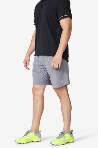 Men's shorts, Grey, Sweat wicking, Cooling, Legacy Knit short - Charcoal Heather