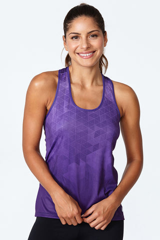 Training Tank, high performance, sweat wicking, flattering fit, comfortable, high quality, SYL - Acai Geo