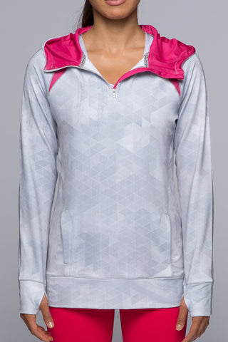 Accelerate 1/4 Zip - White Geo