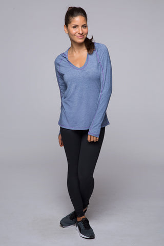 Cut It Out Hoodie - Blue Heather