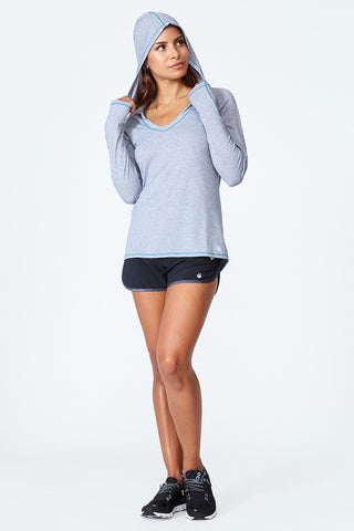 Lightweight, Sweat wicking, Fast drying, Performance, Active lifestyle, Fitness,  Cut It Out Hoodie - Grey Heather