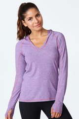 Cut It Out Hoodie - Acai Heather