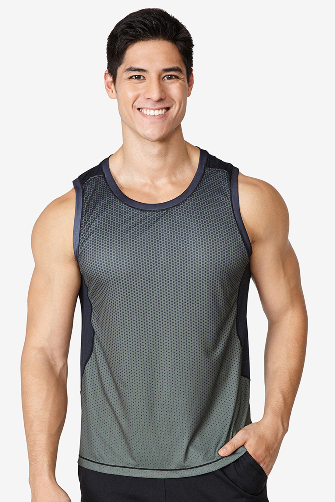hardcore workout, gym, intense, sweat wicking, dry fit, comfortable, high quality, Training Tank - Olive Night