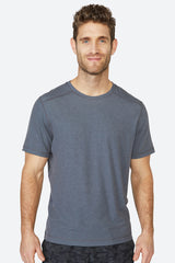 Lightweight, chafing free, sweatwicking, odor resistant, Tech Tee - Grey Charcoal