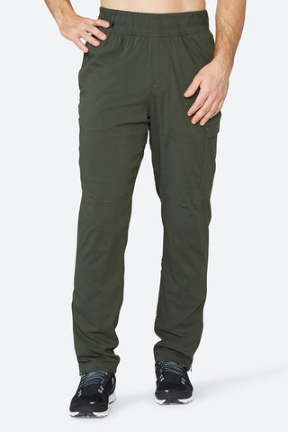 Men's jogger, lifestyle pants, comfortable, cooling, warming, sweat wicking, best feeling to the skin, Nomad Pant - Olive Dusk