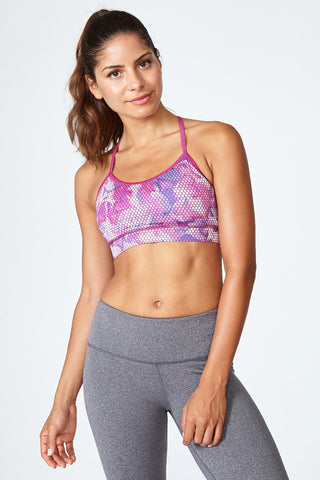 Best sports bra, Skin like bra, Comfortable, Yoga, Everyday Sports bra, Circuit - Flower pattern, Pink
