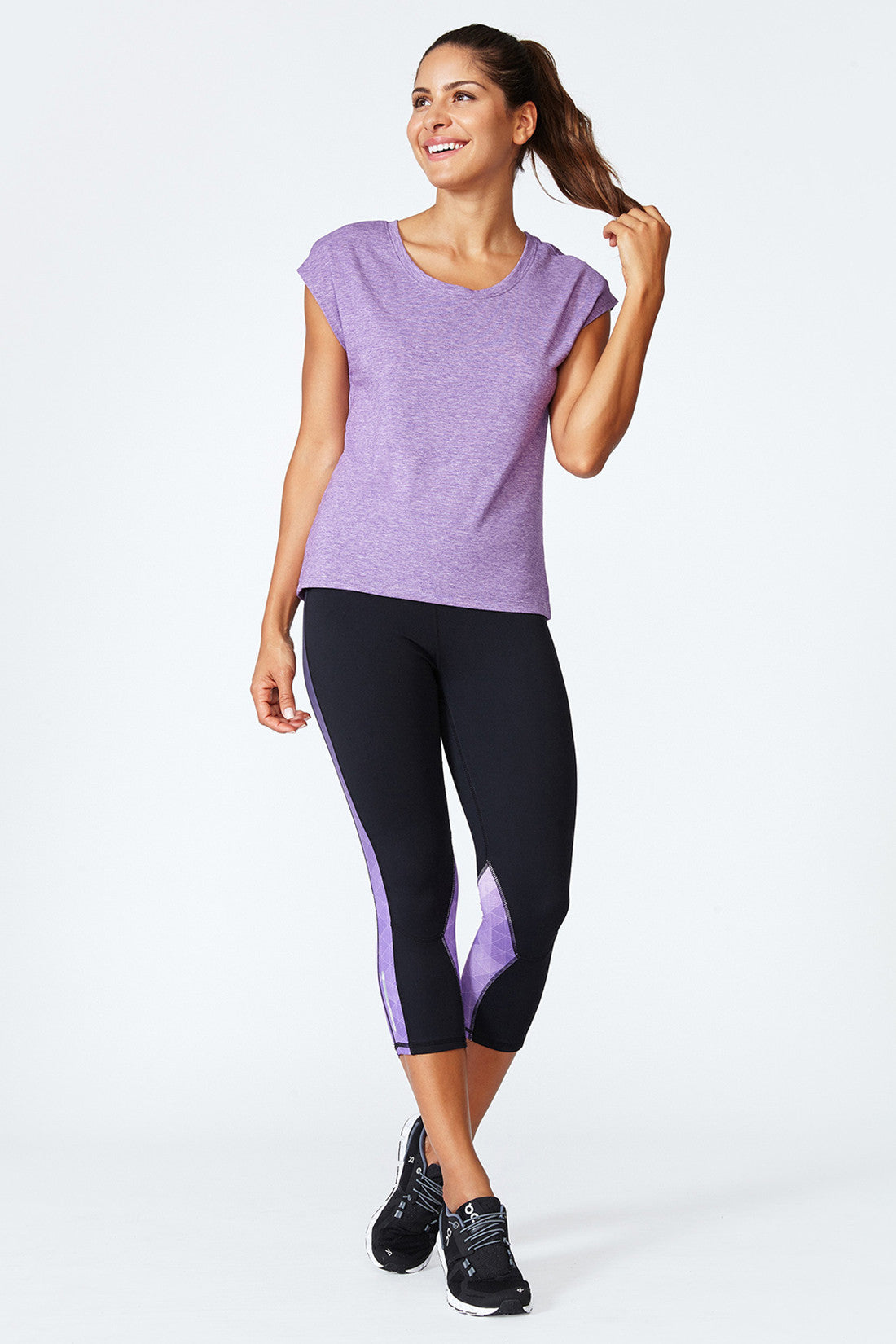 Morgan Tee - Acai Heather