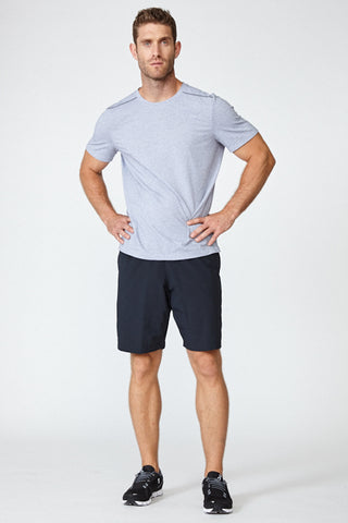 Lightweight, chafing free, sweatwicking, odor resistant, Tech Tee- Light Grey