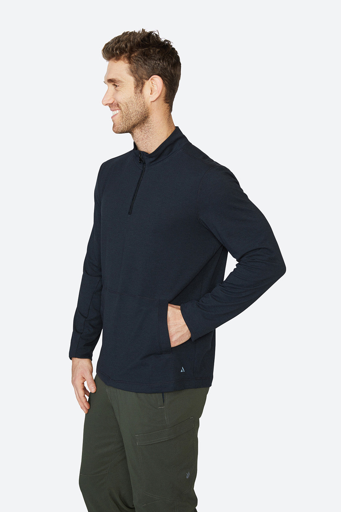 Men's layering piece, Long sleeves, Jack 1/4 zip - Black