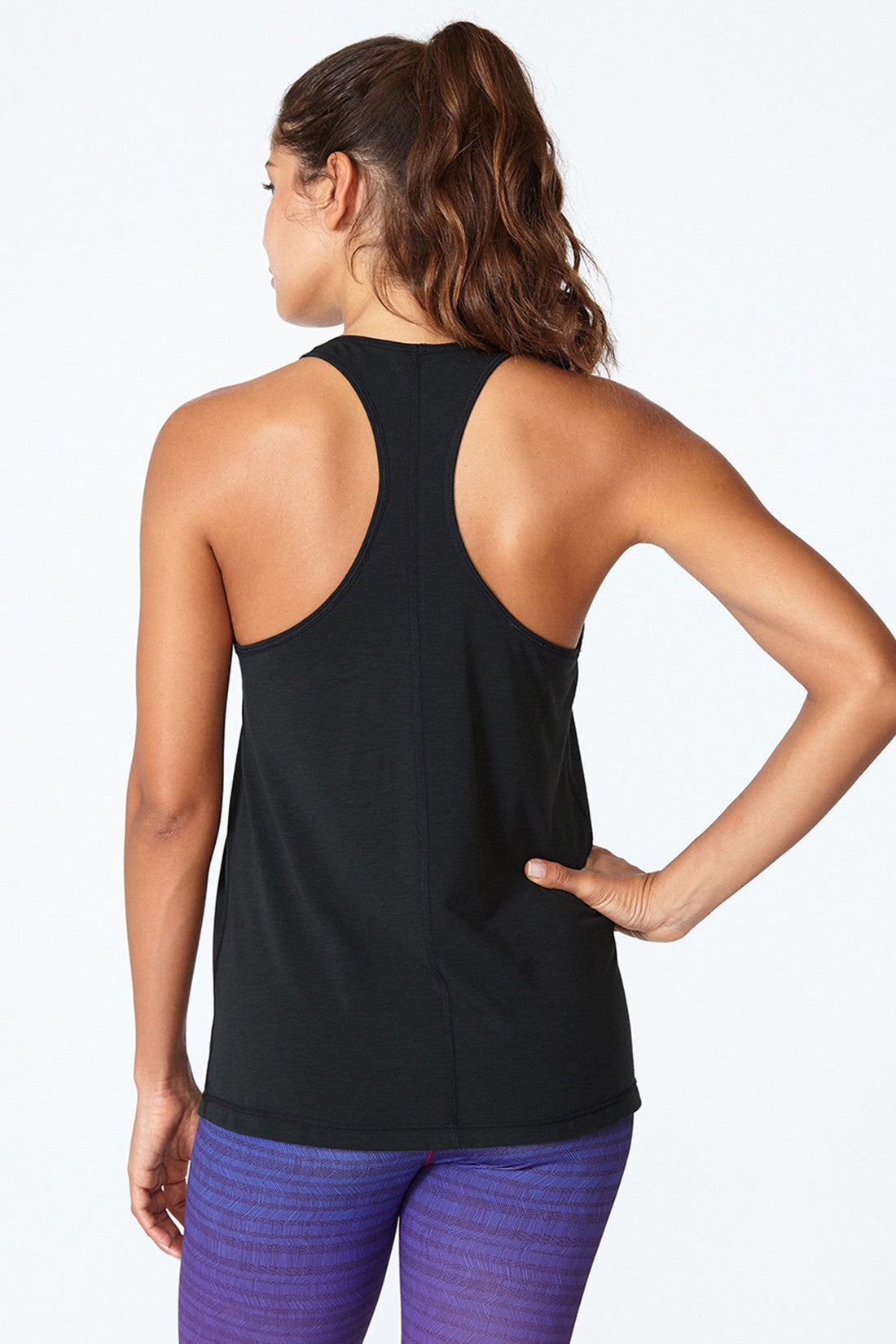 Comfortable, Light weight, Spin class, Hiking, Breezy, Skin-like, any activity, all around, Jessica Racer Back - Black