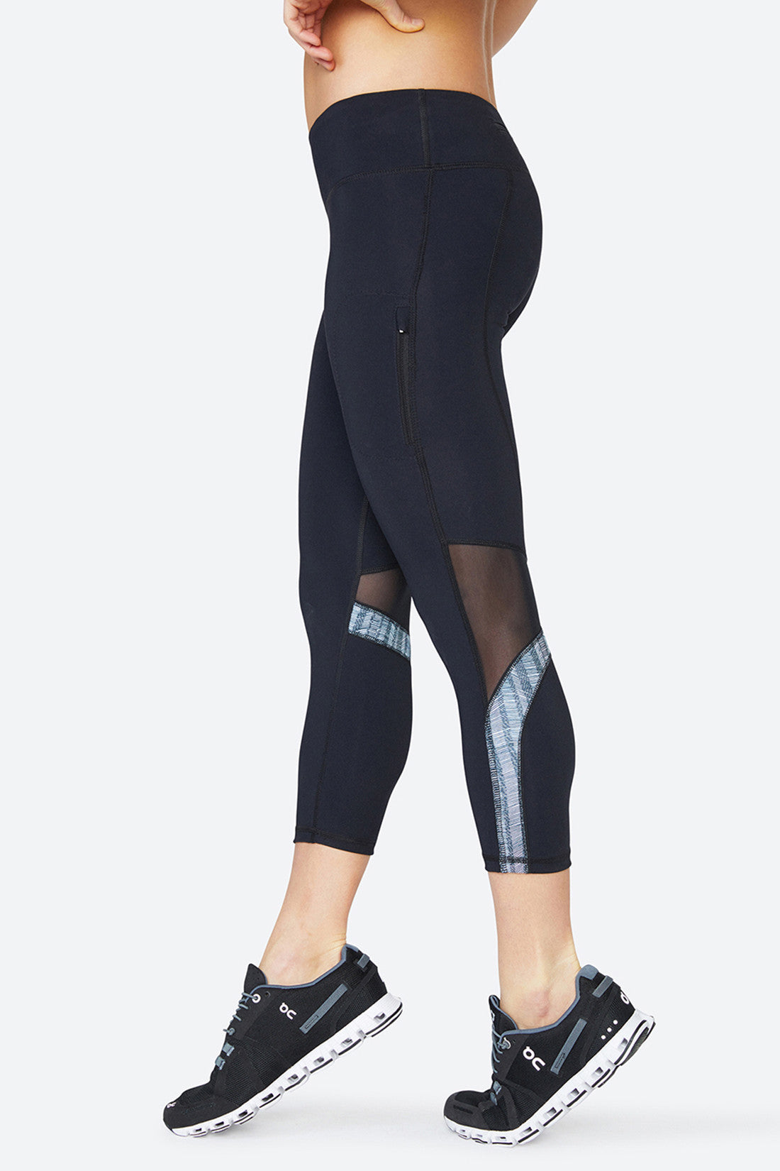 Mesh leggings, breathable, subtle mesh, body hugging, body forming, performance, sweat wicking, Chelsea Tight - Black Mesh