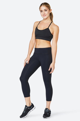 Mesh leggings, subtle mesh, body hugging, body forming, performance, sweat wicking, Chelsea Tight - Black Mesh