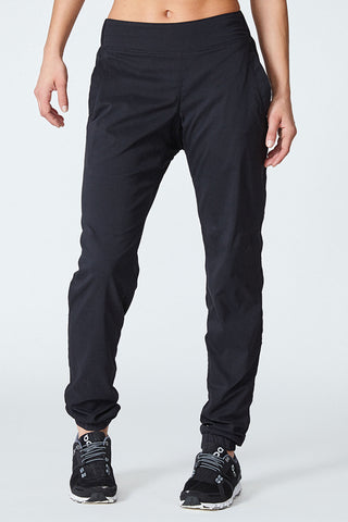 Joggers, Comfortable, Jogging, In and out, Flat stomach, All year around pant, all sports, Amelia Pant - Black Noir