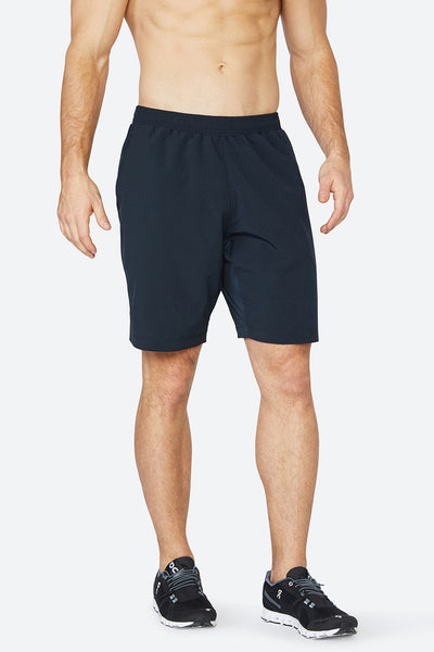 "Classic Woven Short 9"" - BlackMen's performance shorts, black, lightweight, sweat wicking, high quality, solfire, skin-like, black tennis shorts"