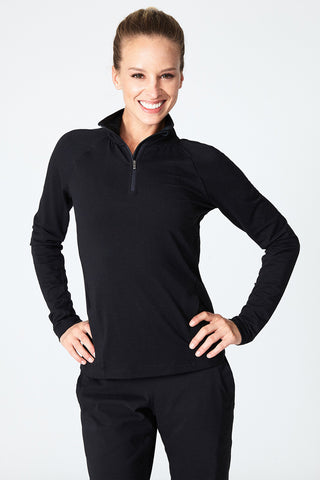 Jackie 1/4 Zip - Black